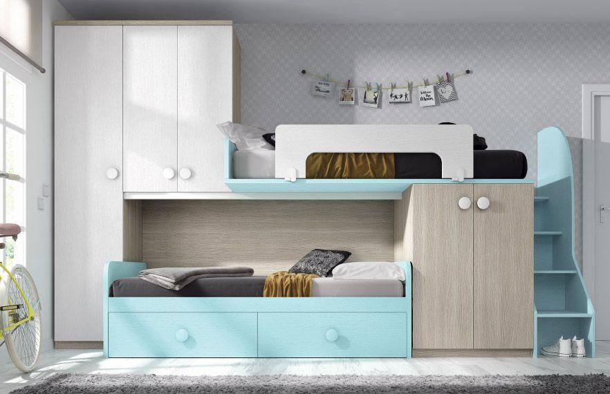 Briole dormitorio juvenil for Camas compactas precios